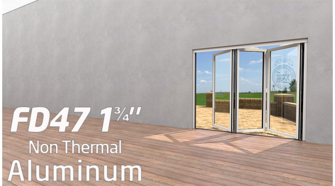 3 Panel Aluminum Bi-Folding Door System   < 7' High X < 8' Wide