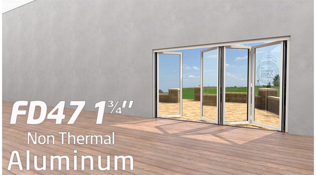 4 Panel Aluminum Bi-Folding Door System   < 9' High X < 12' Wide