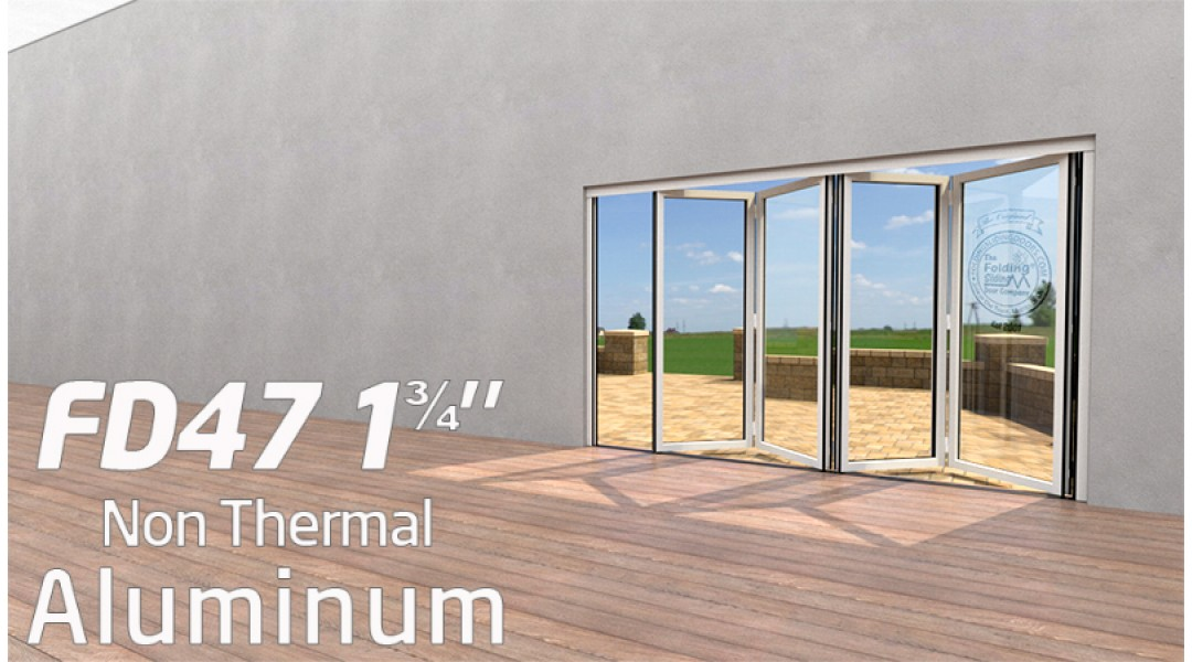 4 Panel Aluminum Bi-Folding Door System   < 9' High X < 9' Wide
