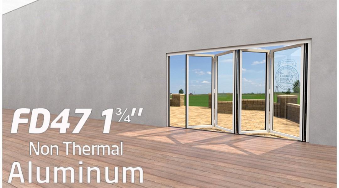 4 Panel Aluminum Bi-Folding Door System   < 9' High X < 8' Wide